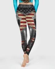 Jesus Cross American Flag High Waist Leggings aos-high-waist-leggings-lifestyle-06
