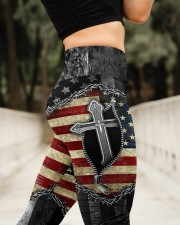 Jesus Cross American Flag High Waist Leggings aos-high-waist-leggings-lifestyle-11