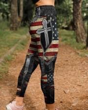 Jesus Cross American Flag High Waist Leggings aos-high-waist-leggings-lifestyle-21