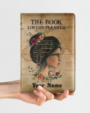 The Book Lover's Planner  Medium - Leather Notebook aos-medium-leather-notebook-lifestyle-front-01