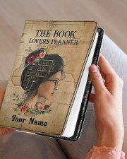 The Book Lover's Planner  Medium - Leather Notebook aos-medium-leather-notebook-lifestyle-front-05