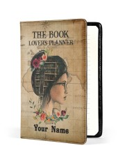 The Book Lover's Planner  Medium - Leather Notebook front