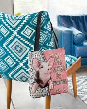 Pig Kisses Fix Everything Bag All-over Tote aos-all-over-tote-lifestyle-front-01
