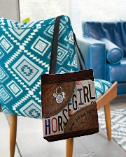 Horse Girl leather pattern print All-over Tote aos-all-over-tote-lifestyle-front-01