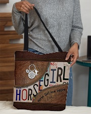 Horse Girl leather pattern print All-over Tote aos-all-over-tote-lifestyle-front-10