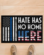 """Police America Hate Has No Home Here Doormat 22.5"""" x 15""""  aos-doormat-22-5x15-lifestyle-front-02"""