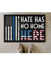 """Police America Hate Has No Home Here Doormat 22.5"""" x 15""""  aos-doormat-22-5x15-lifestyle-front-04"""
