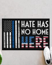 """Police America Hate Has No Home Here Doormat 22.5"""" x 15""""  aos-doormat-22-5x15-lifestyle-front-06"""