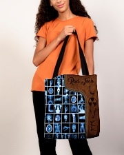Rad Tech Leather Pattern Print All-over Tote aos-all-over-tote-lifestyle-front-06