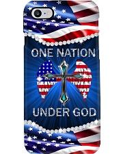 God One Nation America Flag  Phone Case i-phone-8-case