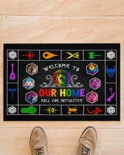 """Lgbt Game Roll For Initiative Doormat 22.5"""" x 15""""  aos-doormat-22-5x15-lifestyle-front-02"""