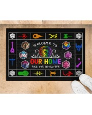 """Lgbt Game Roll For Initiative Doormat 22.5"""" x 15""""  aos-doormat-22-5x15-lifestyle-front-05"""