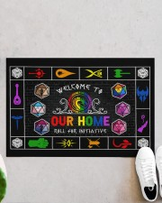 """Lgbt Game Roll For Initiative Doormat 22.5"""" x 15""""  aos-doormat-22-5x15-lifestyle-front-06"""