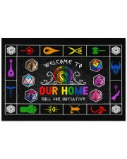 """Lgbt Game Roll For Initiative Doormat 22.5"""" x 15""""  front"""