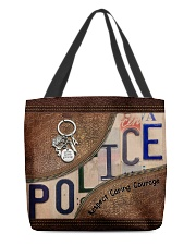 Police Respect Caring Courage All-over Tote front