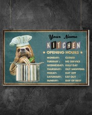 Sloth Kitchen Opening Hours 17x11 Poster aos-poster-landscape-17x11-lifestyle-12
