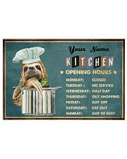 Sloth Kitchen Opening Hours 17x11 Poster front