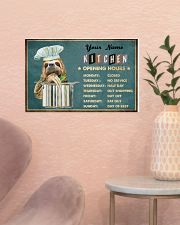 Sloth Kitchen Opening Hours 17x11 Poster poster-landscape-17x11-lifestyle-22