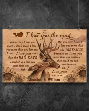 Personalized Deer I Love You The Most 17x11 Poster aos-poster-landscape-17x11-lifestyle-12