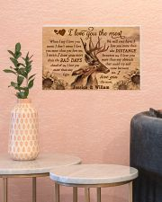 Personalized Deer I Love You The Most 17x11 Poster poster-landscape-17x11-lifestyle-21