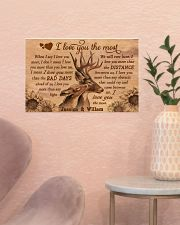 Personalized Deer I Love You The Most 17x11 Poster poster-landscape-17x11-lifestyle-22