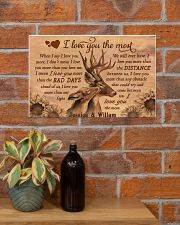 Personalized Deer I Love You The Most 17x11 Poster poster-landscape-17x11-lifestyle-23