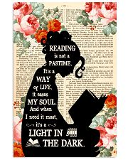 Reading Is Not A Pastime 11x17 Poster front