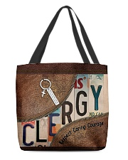 Clergy All-over Tote front