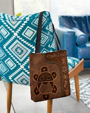 Taino Leather Pattern Print All-over Tote aos-all-over-tote-lifestyle-front-01