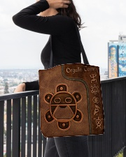 Taino Leather Pattern Print All-over Tote aos-all-over-tote-lifestyle-front-05