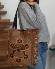 Taino Leather Pattern Print All-over Tote aos-all-over-tote-lifestyle-front-09
