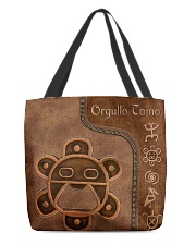 Taino Leather Pattern Print All-over Tote back