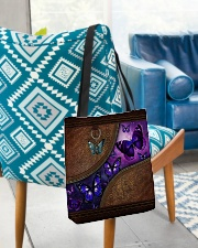 Butterfly leather pattern All-over Tote aos-all-over-tote-lifestyle-front-01