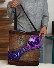 Butterfly leather pattern All-over Tote aos-all-over-tote-lifestyle-front-10