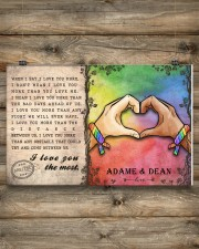Custom Lgbt Love You The Most Personalized Name 17x11 Poster aos-poster-landscape-17x11-lifestyle-14