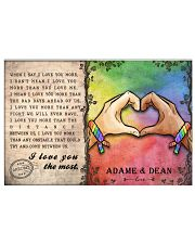 Custom Lgbt Love You The Most Personalized Name 17x11 Poster front