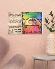 Custom Lgbt Love You The Most Personalized Name 17x11 Poster poster-landscape-17x11-lifestyle-22