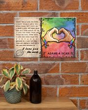 Custom Lgbt Love You The Most Personalized Name 17x11 Poster poster-landscape-17x11-lifestyle-23