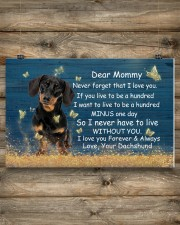 Mommy Never Forget That I Love You Dachshund 17x11 Poster aos-poster-landscape-17x11-lifestyle-14