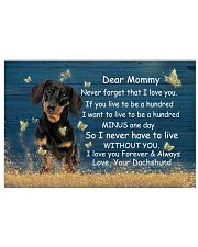 Mommy Never Forget That I Love You Dachshund 17x11 Poster front