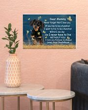 Mommy Never Forget That I Love You Dachshund 17x11 Poster poster-landscape-17x11-lifestyle-21