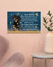 Mommy Never Forget That I Love You Dachshund 17x11 Poster poster-landscape-17x11-lifestyle-22
