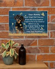 Mommy Never Forget That I Love You Dachshund 17x11 Poster poster-landscape-17x11-lifestyle-23