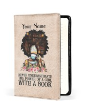 Never Underestimate The Power Of A Girl Notebooks  Medium - Leather Notebook front