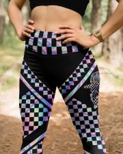 Race Mom Mother's Day High Waist Leggings aos-high-waist-leggings-lifestyle-22