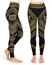 Dope Black Woman High Waist Leggings front