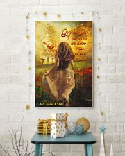 God Has You In His Arms Personalized 11x17 Poster lifestyle-holiday-poster-3