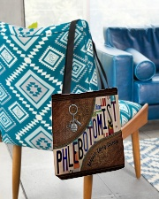 Phlebotomist Leather Pattern Print All-over Tote aos-all-over-tote-lifestyle-front-01