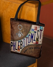 Phlebotomist Leather Pattern Print All-over Tote aos-all-over-tote-lifestyle-front-02