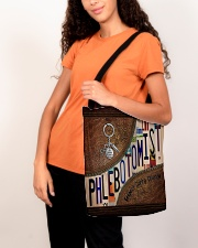 Phlebotomist Leather Pattern Print All-over Tote aos-all-over-tote-lifestyle-front-07